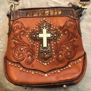 Montana West Purse with Turquoise Color Cross